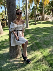 Anna Borisovna - H&M Dress, Massimo Dutti Belt, Arket Shoes - The beige dress