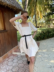 Anna Borisovna - H&M Dress, Massimo Dutti Belt, Arket Shoes - The summer dress