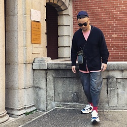 Mannix Lo - Dries Van Noten Cardigan, Cotton On Tee, Washed Cropped Pants, Miharayasuhiro Sneakers - The person you miss the most when everyone is around