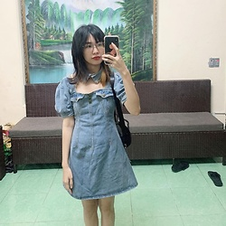 Jimin V.L -  - Denim dress