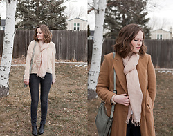 Emily S. - Mm Lafleur Scarf, Marc Fisher Chelsea Boots, Levi's® Skinny Jeans, Zara Trench Coat, The Frye Company Leather Bag, Asos Pointelle Sweater - Winter Pastels