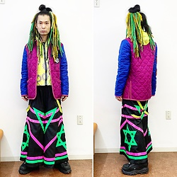@KiD - Cassette Playa Crazy Jackets, Room Eichi Raver Pants, Buffalo Platform - JapaneseTrash631