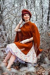 Bleu Avenue - Collectif Forest Friends Swing Dress, Chic Wish Wool Cape - The Last of Winter?