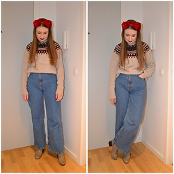 Mucha Lucha - H&M Headband, H&M Jumper, H&M Jeans, Monki Boots - Post Christmas