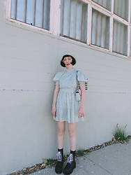 Amy Roiland - Bohema Boots Vegan Plantbased, Nastygal Dress, Gucci Bag - Rock N Roll