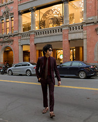 FL JU - Topman Suit, Uniqlo Shirts - Burgundy