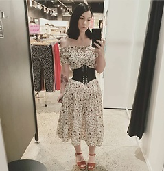 Natalie - Unknown Gypsy Dress, Prettylittlething Corset Belt, Kmart Wedges - Gypsy Dress