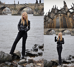 Sophia Bat -  - Magic Prague.Total black look