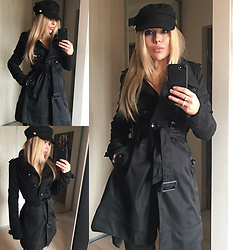 Sophia Bat - Zara Hat, Naf Trench Coat - Bonjour!