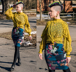 Carolyn W - Lace, Asos Floral, Black Milk Clothing Fleecy, I <3 Ginger Fringe - Colorful Tuesday