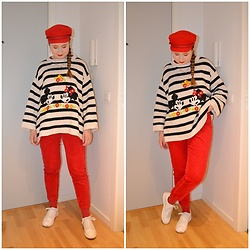 Mucha Lucha - H&M Hat, Zara Jumper, Monki Trousers, Bershka Sneakers - Cute and comfy tent