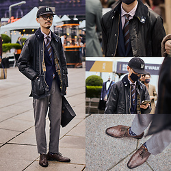 John Kuo - Heritage Cap, Barbour Wax Jacket - 2021 Suit Walk and suit up