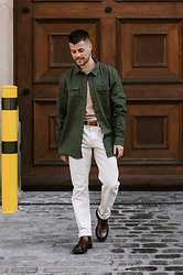Kevin Elezaj - Acne Studios Boots, A.P.C. Pants, Hugo Boss Belt, Cos Knit, Asos Shirt - 821
