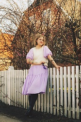 Kathrine Ottander -  - Lilac Dress With Puffy Sleeves
