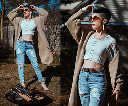 Carolyn W - Femme Luxe Long Cardigan, Femme Luxe Cropped, Wild Fable Ripped, Queork Cork - Embracing Early Spring