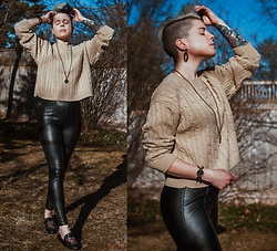 Carolyn W - Femme Luxe Cableknit, Topshop Faux Leather, Snakey - Tease of Spring