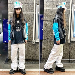 @KiD - Funk Plus Police Hats, The Chemical Brothers Tee, Forever 21 Silver Pants, Buffalo Platform - JapaneseTrash639