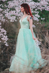 Bleu Avenue - Verngo Teuta Matoshi Look Alike Hearty Mint Gown - Spring Pastels