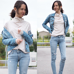 Claire H - H&M Statement Blouse, H&M Denim Jacket, Levi's® Jeans - Light Denim for Spring