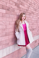 Shelly G - Guess Beige Coat, Vero Moda Skirt, H&M Pink Top - Happy Easter Look