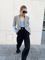 Anna Borisovna - Bottega Veneta Sunglasses, Veronica Beard Jacket, Sézane Pants, Massimo Dutti Belt - The Veronica Beard Jacket