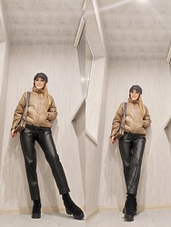 Korizza -  - Eco leather jacket and trousers outfit