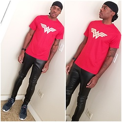 Thomas G - Durag, Dc Comics Wonder Woman, Faded Glory Faux Leather Pants, Levi's Apex Kt Casual Rubber Sole Knit Fashion Sneaker - DC Comics Wonder Woman