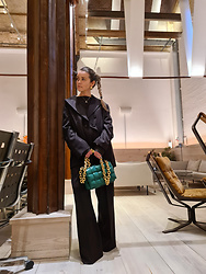 Joicy Muniz - Attire Suit, Bottega Veneta Bag - Oversized