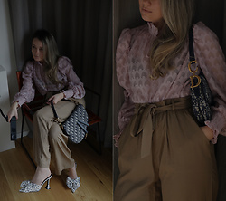 Joicy Muniz - Love & Divine Shirt, Christian Dior Bag, Love & Divine Trousers, Quanticlo Shoes - Spring is calling