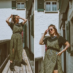 Doina M. - Motel Rock Long Dress, Dr. Martens Chunky Combat Boots - IG @then3rdmom