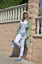 Elisabeth Green - Vivaia Loafers, Stradivarius Hat, Primark Shirt - Recycled Loafers
