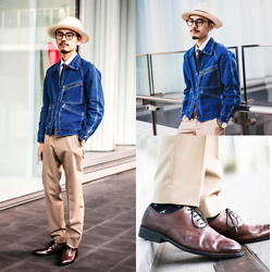 John Kuo - Yoyuu Lab Trousers, Syndro Worker Jacket, Vanger Oxford - Name your look
