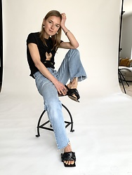 Anna Borisovna - Christopher Esber Shirt, Levis Denim Jeans, Bottega Veneta Shoes - The levis 501
