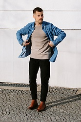 Kevin Elezaj - Paul Smith Boots, Levi's® Jeans, Cos Knitwear, Paul Smith Shirt - 830