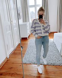 Kristina - Stradivarius Cardigan, H&M Jeans, H&M Sneaker - Ready for spring