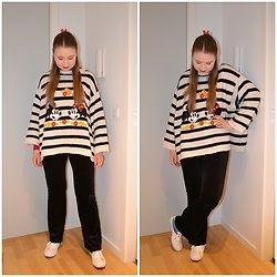 Mucha Lucha - Zara Jumper, Stradivarius Roll Neck Top, Monki Trousers, Converse Sneakers - Cute, casual, and comfortable