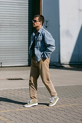 Kevin Elezaj - Call It Spring Sneakers, A Day's March Pants, Lee Jacket, Moscot Glasses - 832