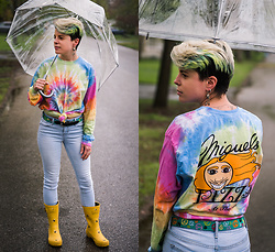 Carolyn W - Tie Dye, Peace, Skinny, Joules Bees - Rainbow on a Rainy Day