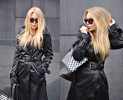Sophia Bat - Gestuz Trench Coat, Silvian Heach Bag, Diesel Piersed Sunglasses - Gestuz trench coat