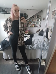 Beverley Bowen - New Look Shirt, H&M Black Top, Primark Jeans, Vans Shoes - Leopard