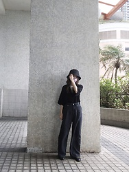 Flosmoony - Lowrys Farm Hat, Monki Top, Uniqlo White Tshirt, Monki Pants - 2021/015 summer is coming