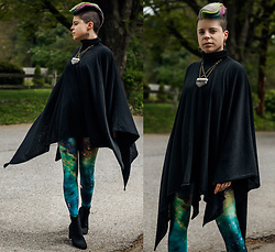 Carolyn W - Bcp Jewelry Crystal, Forever 21 Black, Black Milk Clothing Galactic, Sock Boots - Galactic in Green