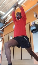 Thomas G - Nike Ohio State Buckeyes, United States Marine Corps, Smart Watch, Moving Comfort Run Shorts - Virabhadrasana Pose