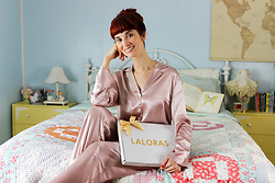 Bleu Avenue - Laloras Homeric Epic Washable Silk Pajama Set - Sweet Dreams with Laloras Pajamas