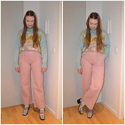 Mucha Lucha - Zara Jumper, H&M Trousers, Asos Shoes - Cute and fun pastels